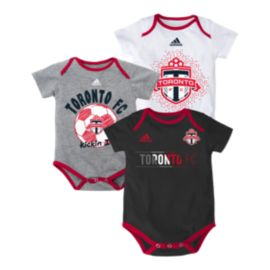 Toronto FC Baby Hat Trick 3 Piece Creeper Set