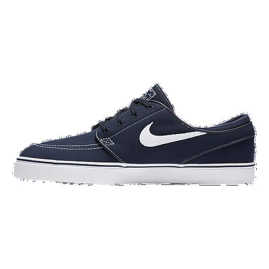 Nike Men's Zoom Janoski Canvas Skate Shoes - Obsidian/White