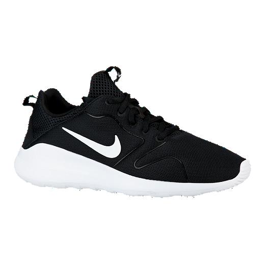 nike mens kaishi 2.0 shoes black white