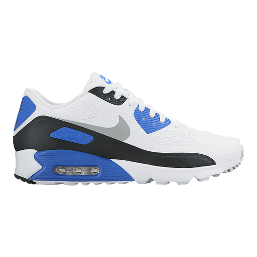 cheaper 7c242 40edc Nike Men s Air Max 90 Ultra Essential Shoes - White Grey Blue   Sport Chek