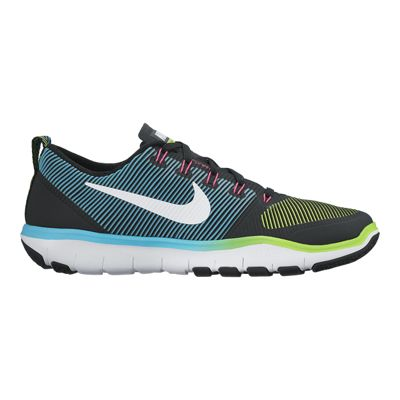 Nike Men's Free Train Versatility Training Shoes - Black/Teal/Green