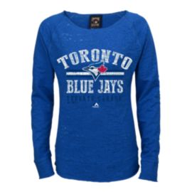 Toronto Blue Jays Girls' Neat Cleats Long Sleeve Raglan Shirt