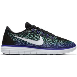 Nike Women's Free Run Distance Running Shoes - Black/Teal Green/Purple