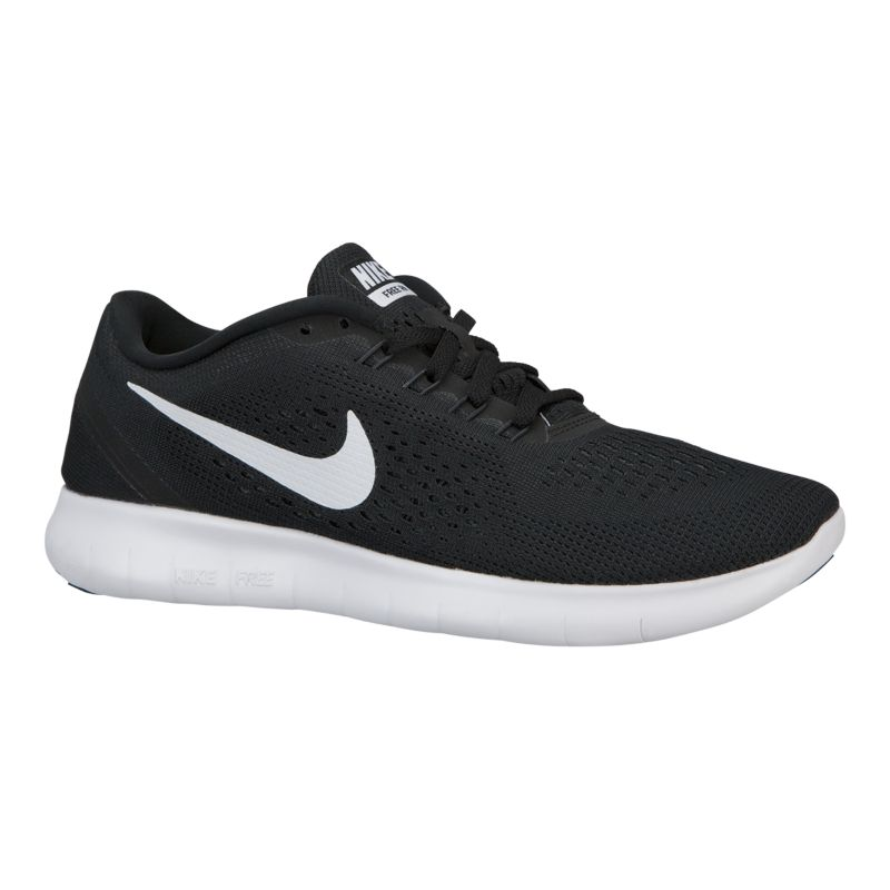 nike s free rn 2016 running shoes black white
