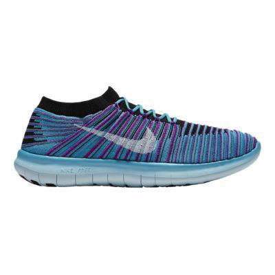 nike women s free rn motion flyknit running shoes blue purple rh sportchek ca