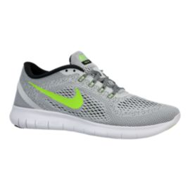 Nike Men's Free RN 2016 Running Shoes - Grey/Green