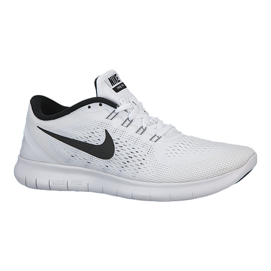 f0645da5e8f Nike Men s Free RN 2016 Running Shoes - White Black