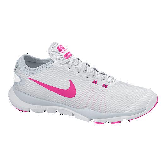 110893b62927 Nike Women s Flex Supreme TR 4 Training Shoes - White Pink