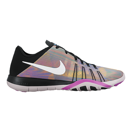 designer fashion f08d0 9680c Nike Women s Free TR 6 Print Training Shoes - Rainbow Black White   Sport  Chek
