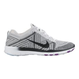 Nike Women's Free TR FlyKnit Training Shoes - White/Black