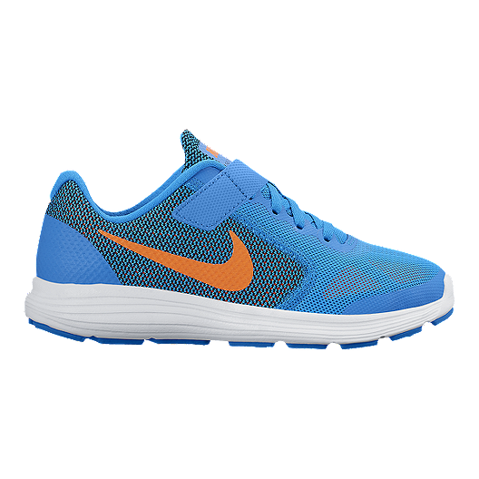 best loved 49dda fe148 Nike Kids  Revolution 3 Preschool Running Shoes - Blue Orange White   Sport  Chek