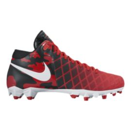 Nike Men's Field General Pro TD Mid Football Cleats - Red/Camo/Black