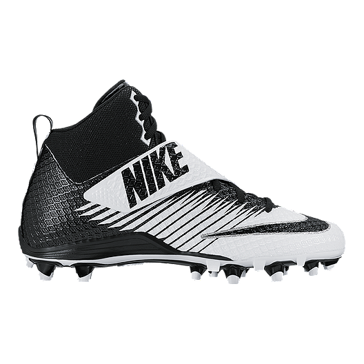 47a2aae94 Nike Men s LunarBeast Pro TD Mid Football Cleats - Black White ...