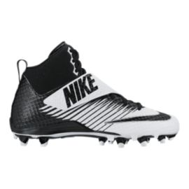 Nike Men's LunarBeast Pro TD Mid Football Cleats - Black/White
