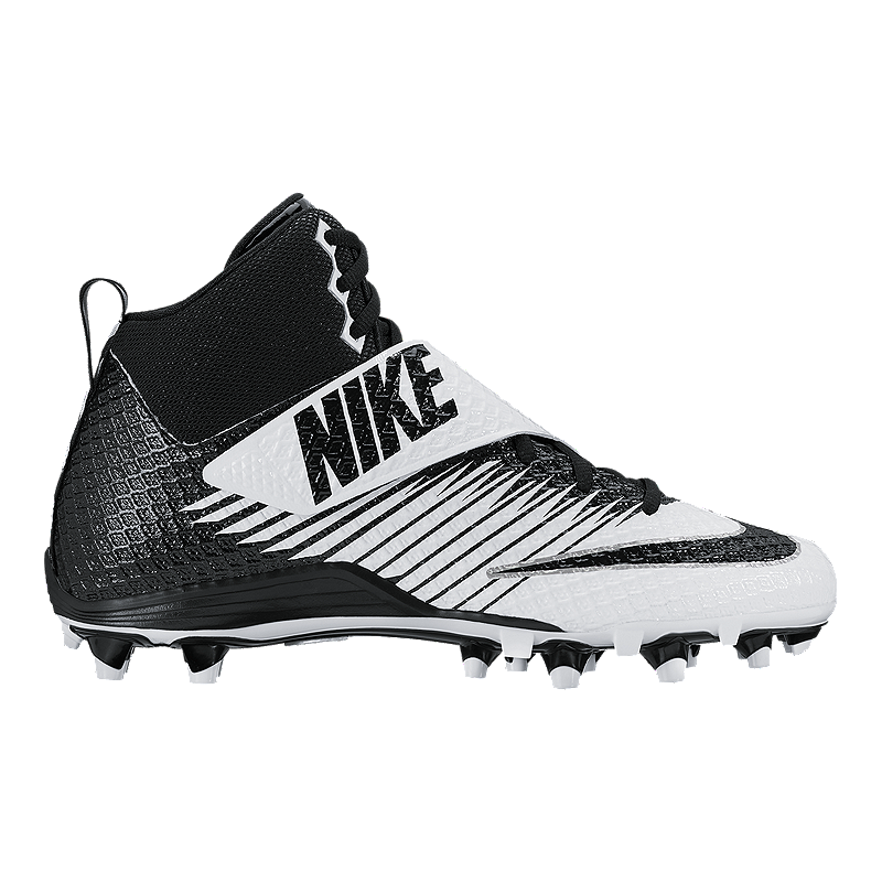 huge sale b0115 852cb Nike Men s LunarBeast Pro TD Mid Football Cleats - Black White   Sport Chek