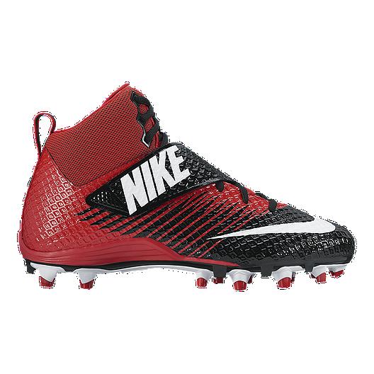ac1b6197f Nike Men s LunarBeast Pro TD Mid Football Cleats - Black White Red ...