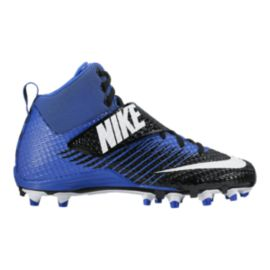 Nike Men's LunarBeast Pro TD Mid Football Cleats - Black/White/Blue