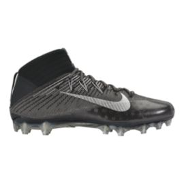 Nike Men's Vapor Untouchable 2 TD Mid Football Cleats - Silver/Black