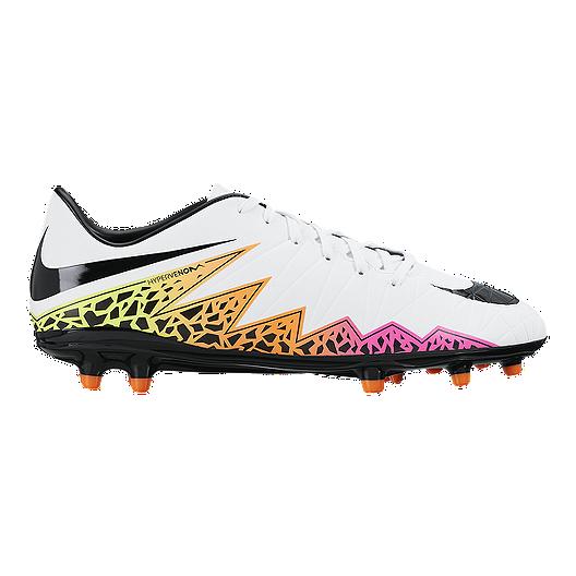 cheaper 903a2 bd8b8 Nike Men's HyperVenom Phelon II FG Outdoor Soccer Cleats - White/Black/Orange  | Sport Chek