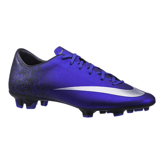 3d275678e Nike Men s Mercurial Victory V CR FG Outdoor Soccer Cleats - Purple Silver  Black