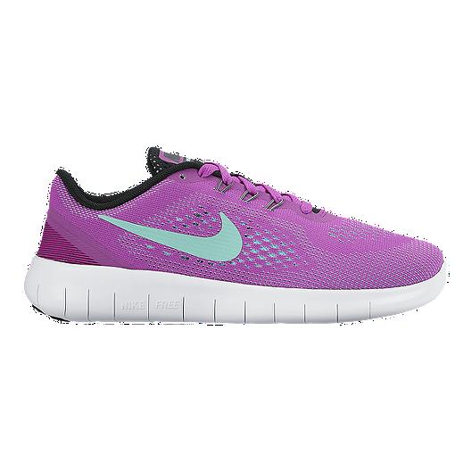 02b75ab9fb57 Nike Girls  Free Run Grade School Running Shoes - Violet White ...