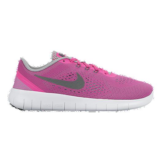 best website 763b5 eec9f Nike Girls' Free Run Grade School Running Shoes - Pink ...