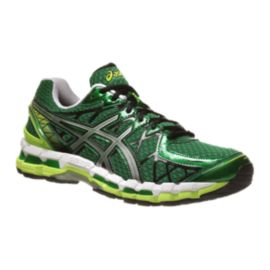 ASICS Men's Gel Kayano 20 Running Shoes - Green/Silver