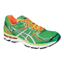 ASICS Men's GT-2000 2 Running Shoes - Green/Orange