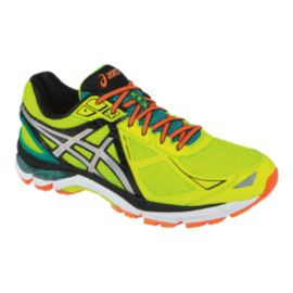 ASICS Men's GT-2000 3 Running Shoes - Yellow/Orange/Green