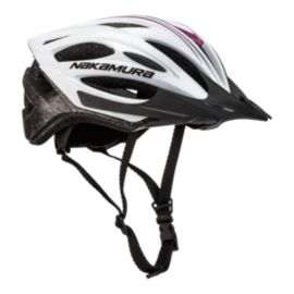 Nakamura Speed 1 Bike Helmet - White/Purple