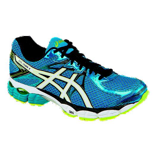 b649a940521 ASICS Men s Gel Flux 2 Running Shoes - Blue Black Lime Green