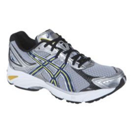 ASICS Men's Gel Fortitude 3 Running Shoes - Silver/Navy/Black