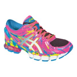 ASICS Women's Gel Sendai 2 Running Shoes - Pink/Blue/Yellow Pattern