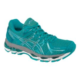 ASICS Women's Gel Kayano 21 Running Shoes - Teal Blue/Grey