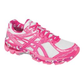 "ASICS Women's GT-1000 3 ""Pink Ribbon"" Running Shoes - White/Pink"