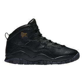 dcf9354505a Nike Jordan Kids  Retro 10 Grade-School Basketball Shoes - Black