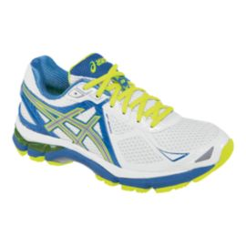 ASICS Women's GT-2000 3 Running Shoes - White/Blue/Lime Green
