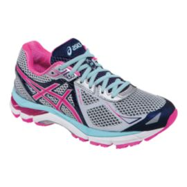 ASICS Women's GT-2000 3 Running Shoes - Silver/Pink/Navy