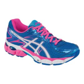 ASICS Women's Gel Flux 2 Running Shoes - Blue/Pink/White