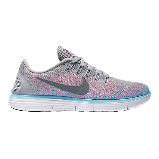 231c07beebb66 Nike Women s Free RN Distance Running Shoes - Grey Pink Blue