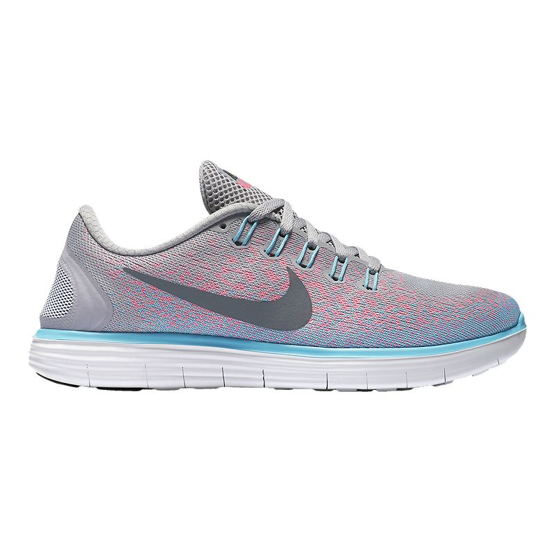 best loved 6a22d 2aaf7 Nike Women s Free RN Distance Running Shoes - Grey Pink Blue (886550836739)