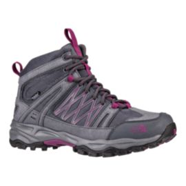 The North Face Women's Alteo Mid Waterproof Lite-Hiking Boots - Grey/Purple