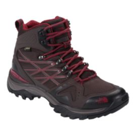 The North Face Men's Hedgehog FastPack Mid GTX Hiking Shoes - Brown/Red
