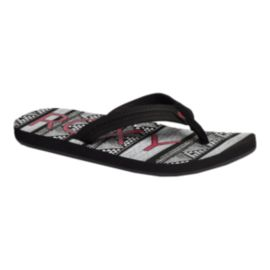 Roxy Women's Vista Print Sandals - Black/White