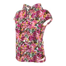 adidas Run Floral All-Over Print Women's Short Sleeve Top