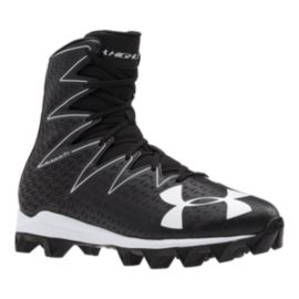 Under Armour Men's Highlight RM Mid Football Cleats - Black/White