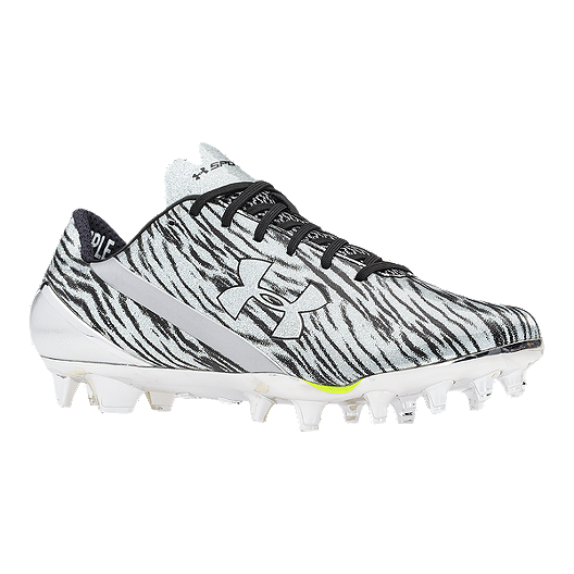 c840cd6f4 Under Armour Men s Spotlight Low Football Cleats - White Black Camo ...