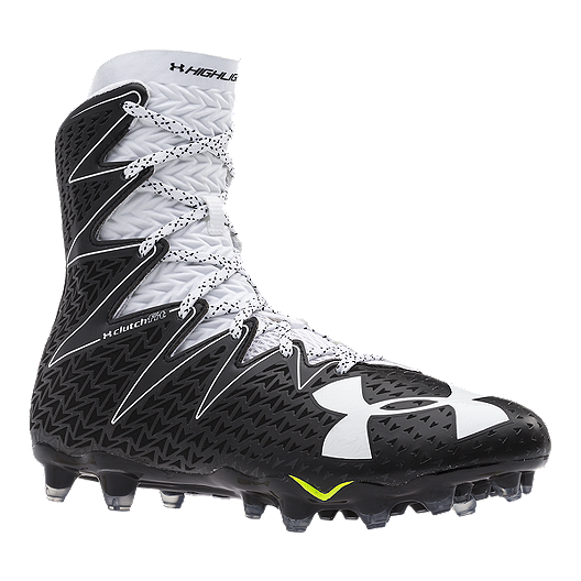 881d77823 Under Armour Men s Highlight Mid Football Cleats - Black White ...