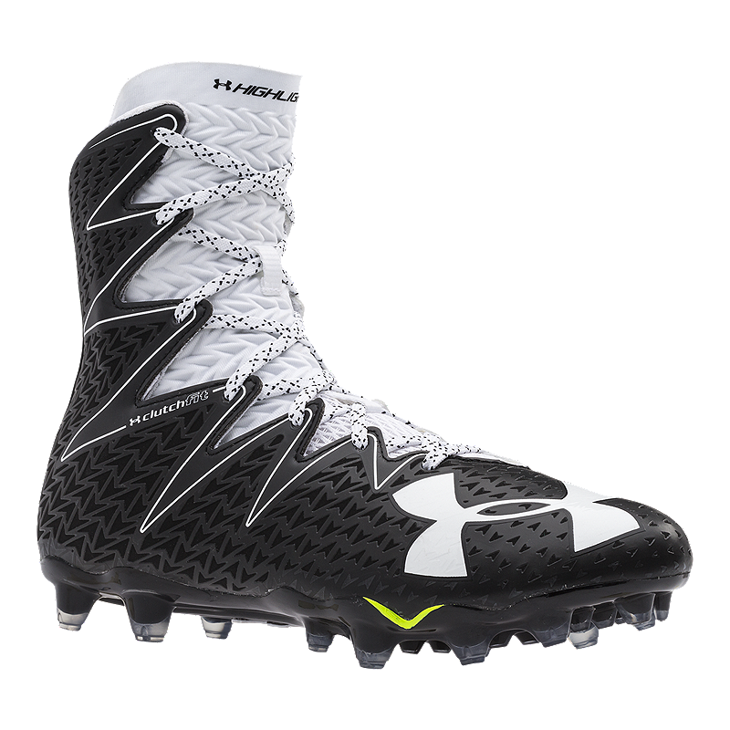 09b6647ccfb5 Under Armour Men s Highlight Mid Football Cleats - Black White ...