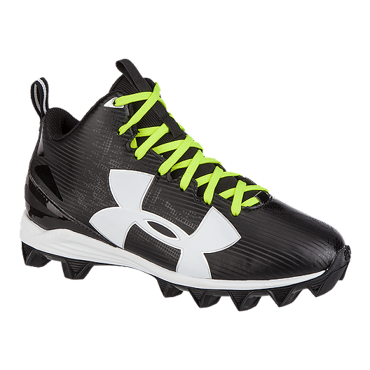f34e7047fe94 Under Armour Kids' Crusher RM Mid-Cut Football Cleats - Black/White/Multi |  Sport Chek